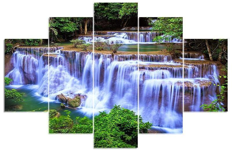 Landscape Waterfall Square Multi-Diamond Painting