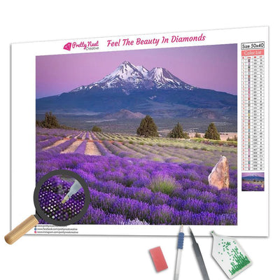 Lavender Field Diamond Painting