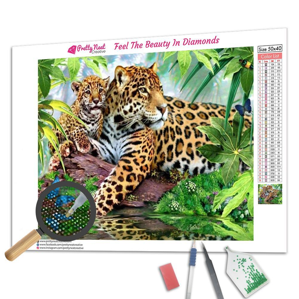 Leopard Forest Diamond Painting