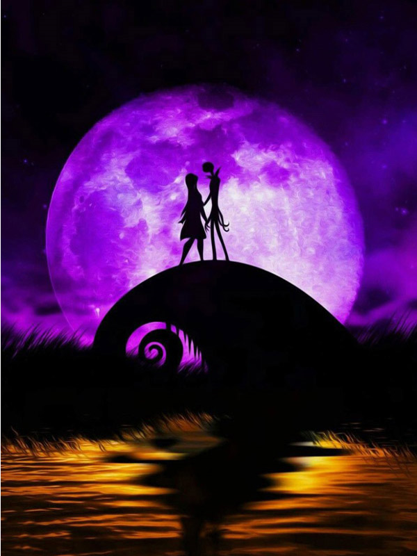 Jack and Sally in Love Diamond Painting