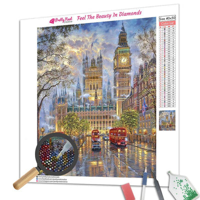 London Street Square Diamond Painting