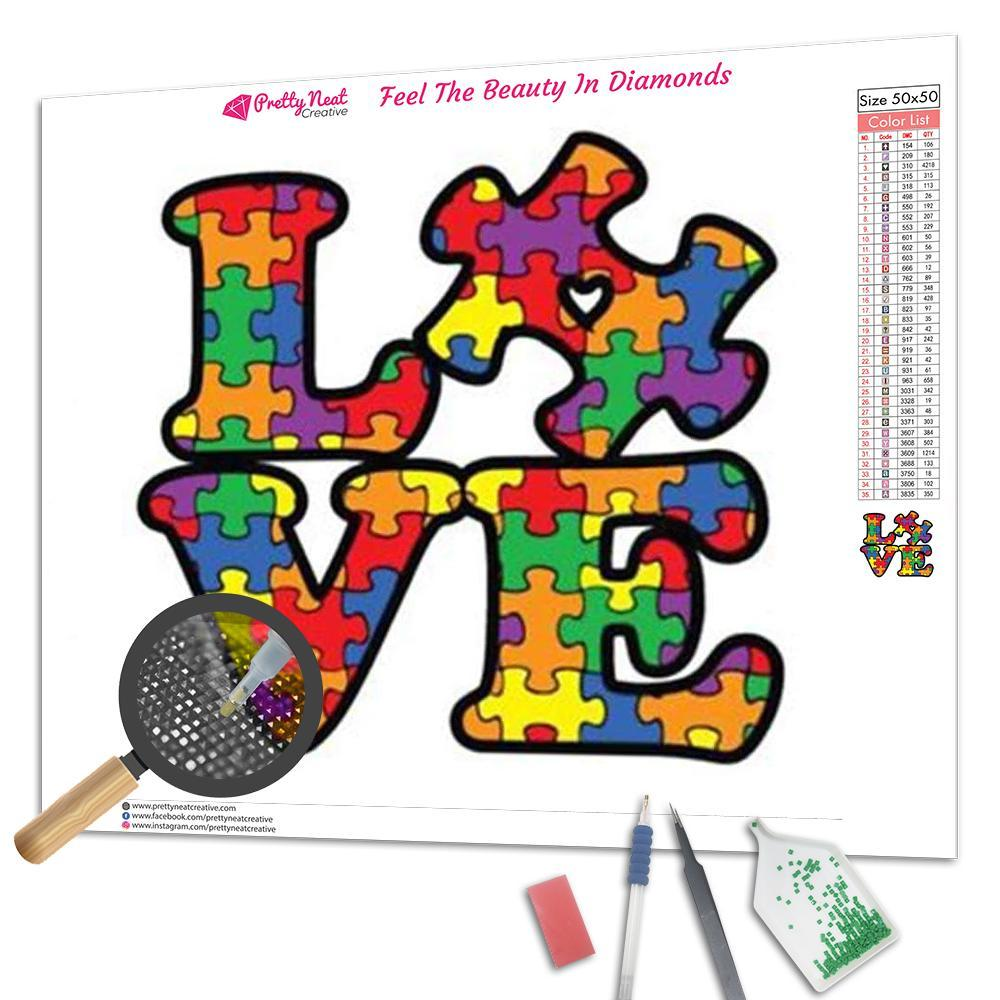 Love Autism Diamond Painting