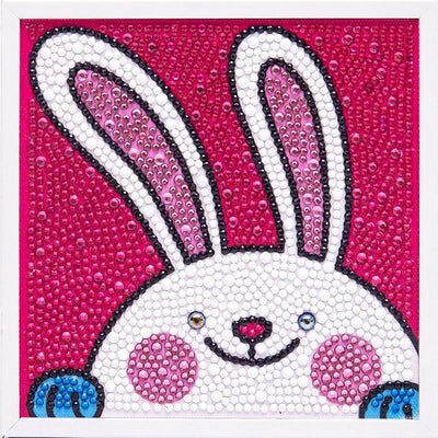 Lovely Bunny Diamond Painting With Frame