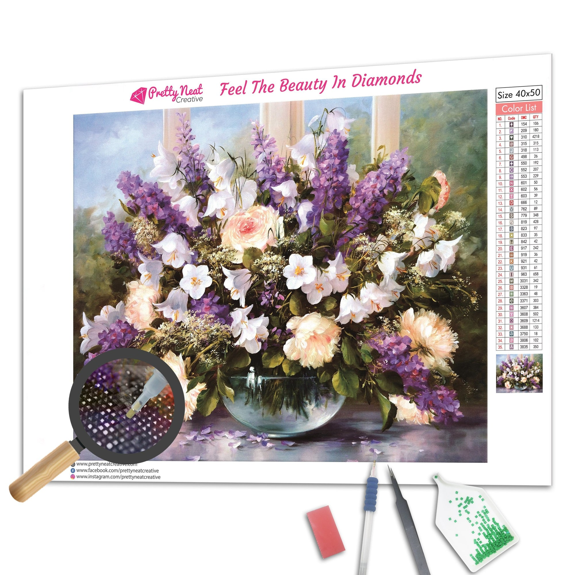 Lovely Colorful Flowers Diamond Painting