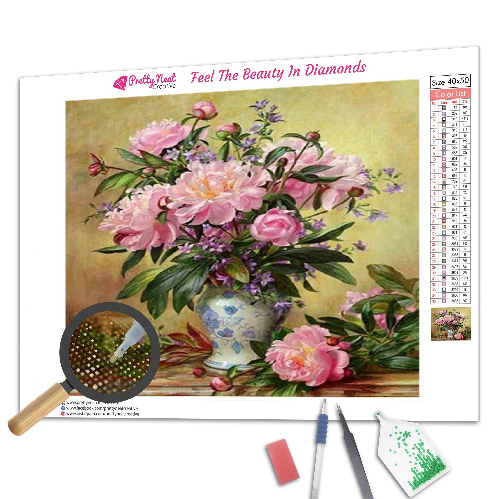 Lovely Flower Diamond Painting