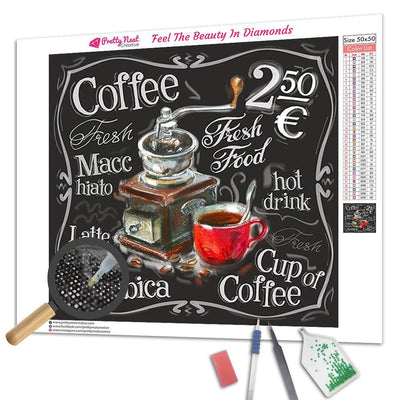 Menu Coffee Square Diamond Painting