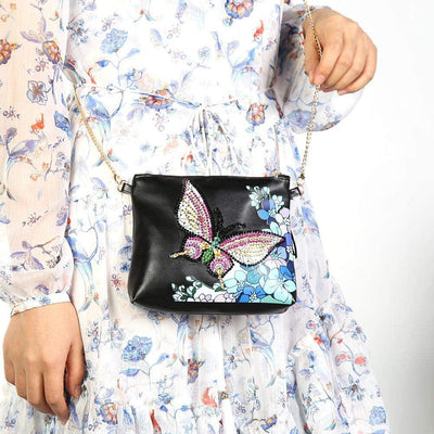 Monarch Butterfly Crossbody Bag Diamond Painting Handbags  - Pretty Neat Creative