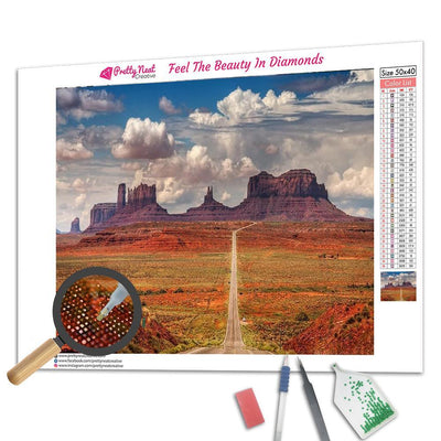 Monument Valley Square Diamond Painting