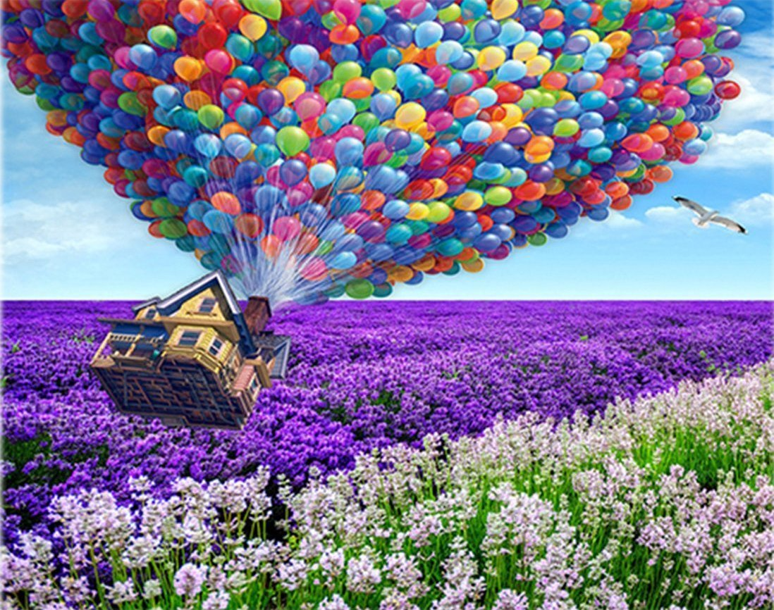 Lavender balloons Diamond Painting