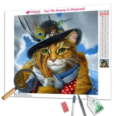 Mr. Cat Diamond Painting