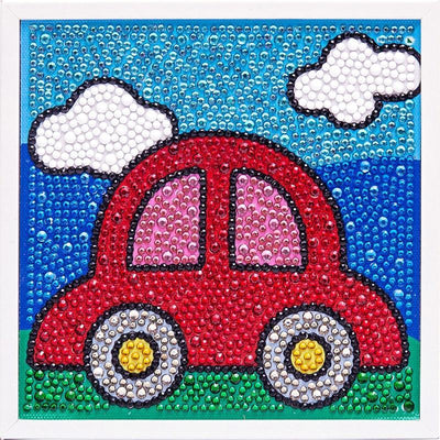 My Little Red Car Diamond Painting With Frame