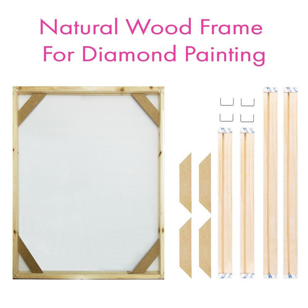 Natural Wood Frame For Diamond Painting