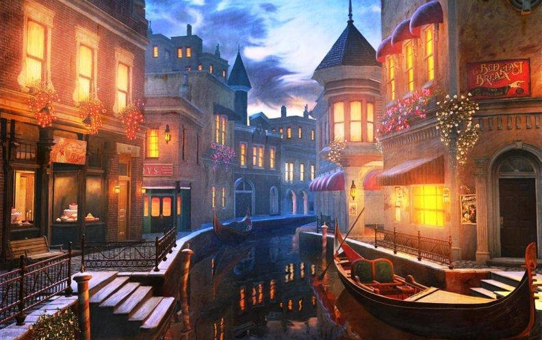 Night Streets Wallpaper Diamond Painting