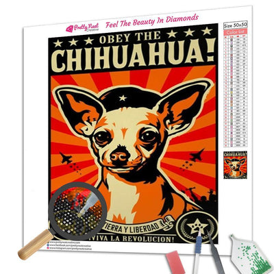 Obey The Chihuahua Diamond Painting