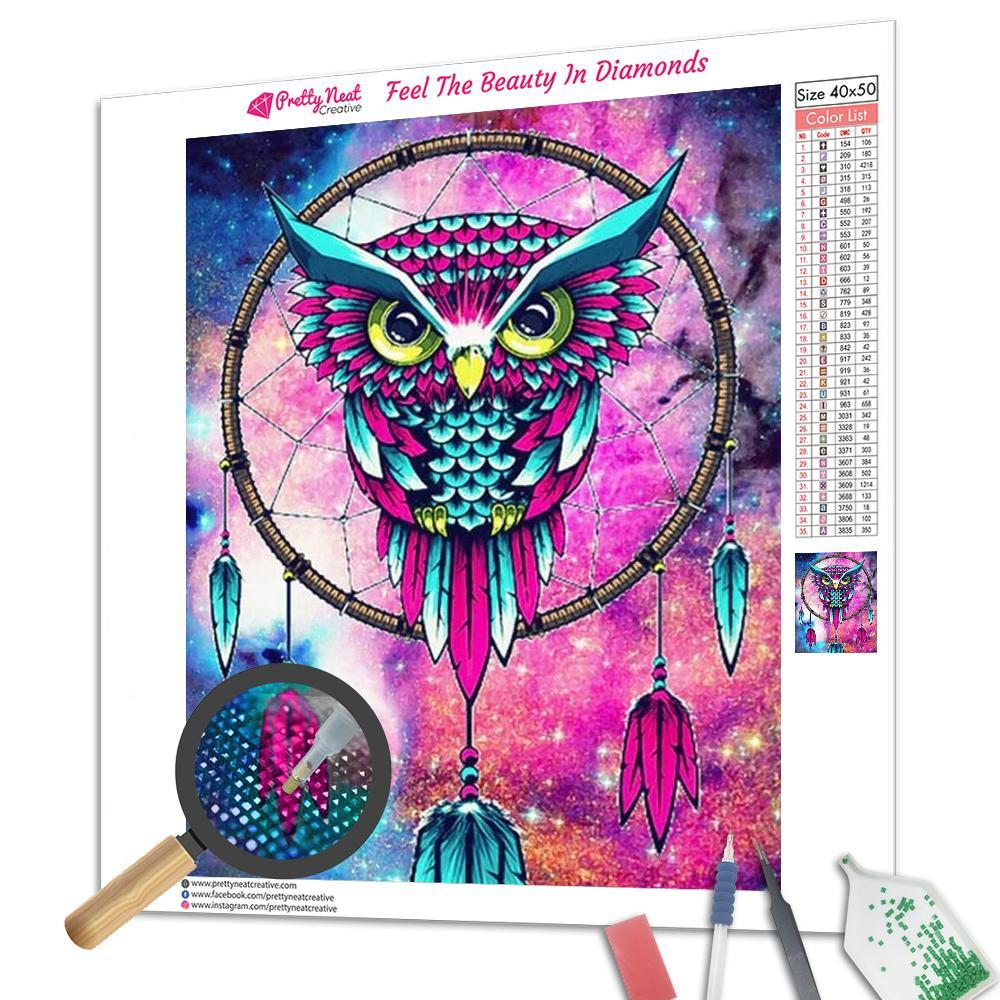 Owl Mandala Dream Catcher Diamond Painting