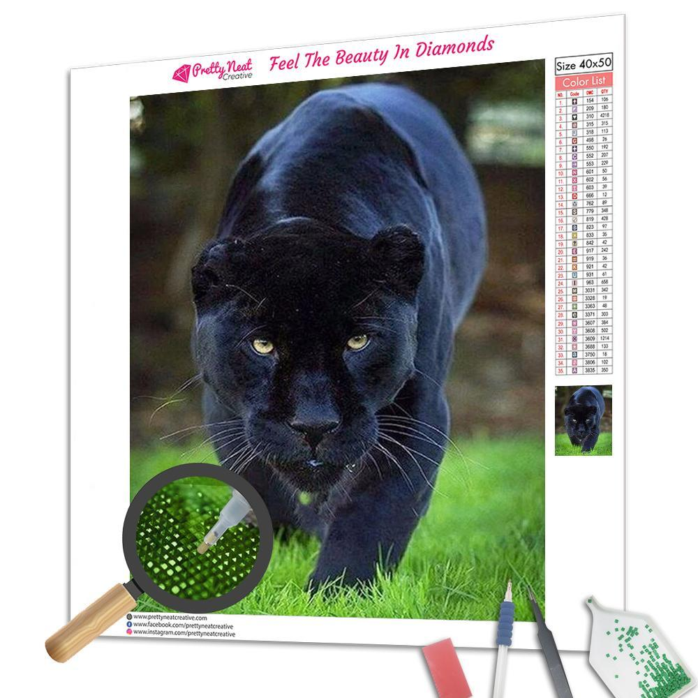 Panther Ferocious Diamond Painting