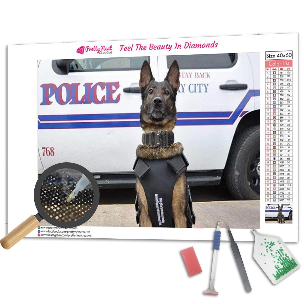 Police Dog Diamond Painting