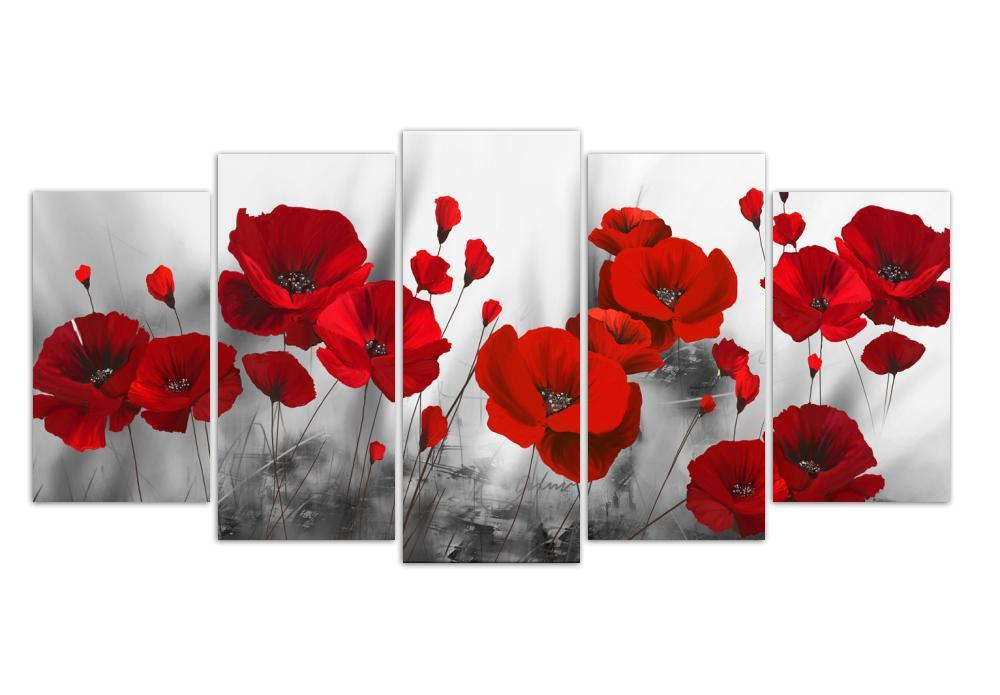 Poppy Flowers 5D Square Diamond Painting