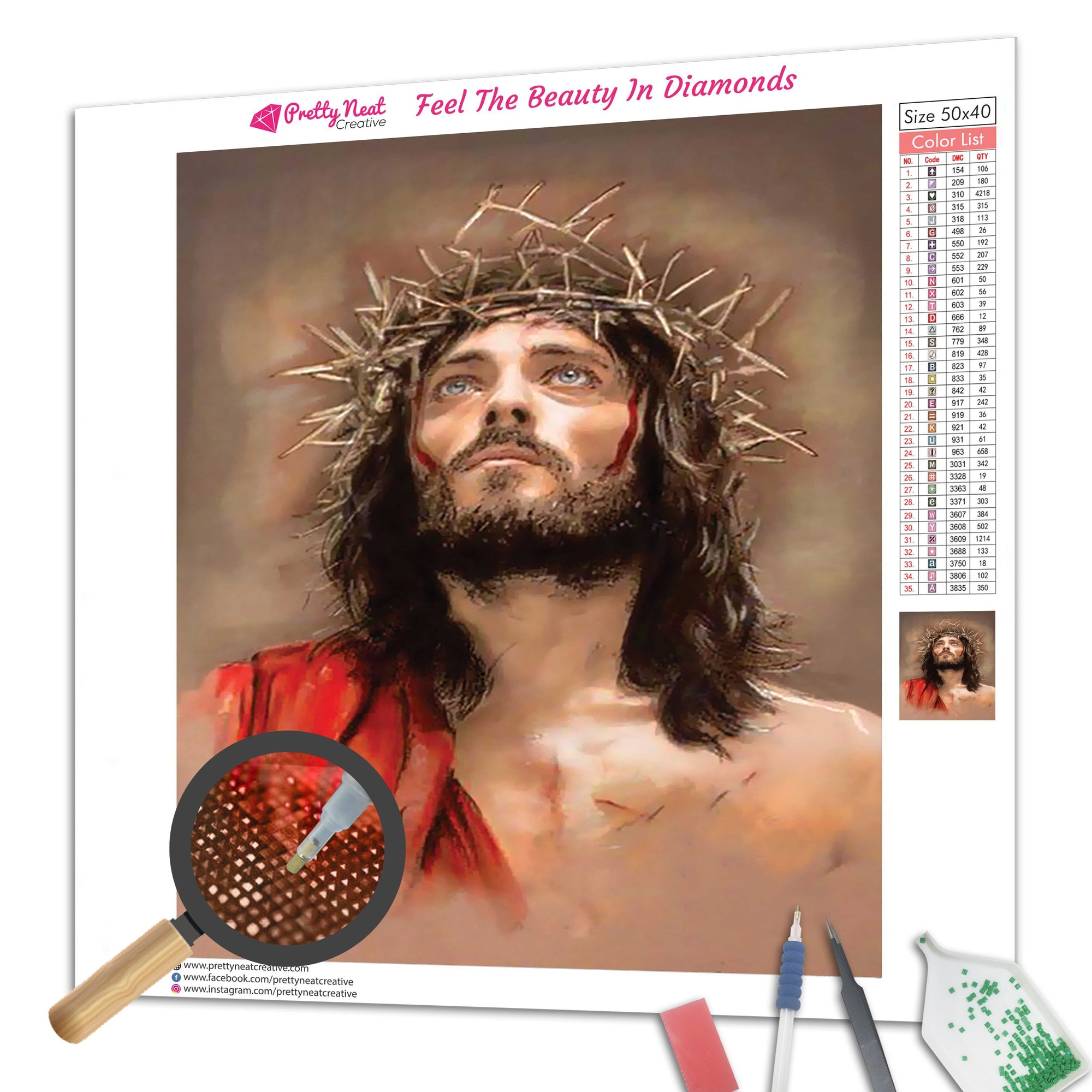 Portrait of Jesus Christ Diamond Painting