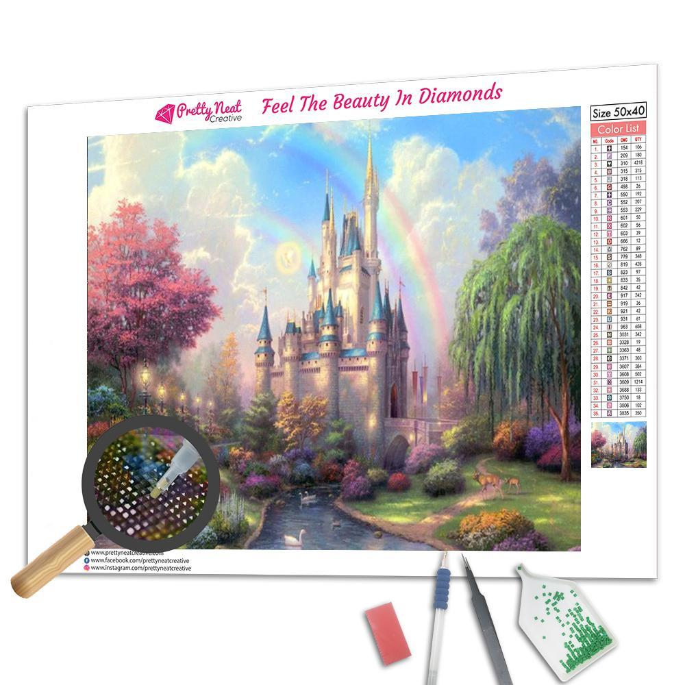 Rainbow Castle Diamond Painting