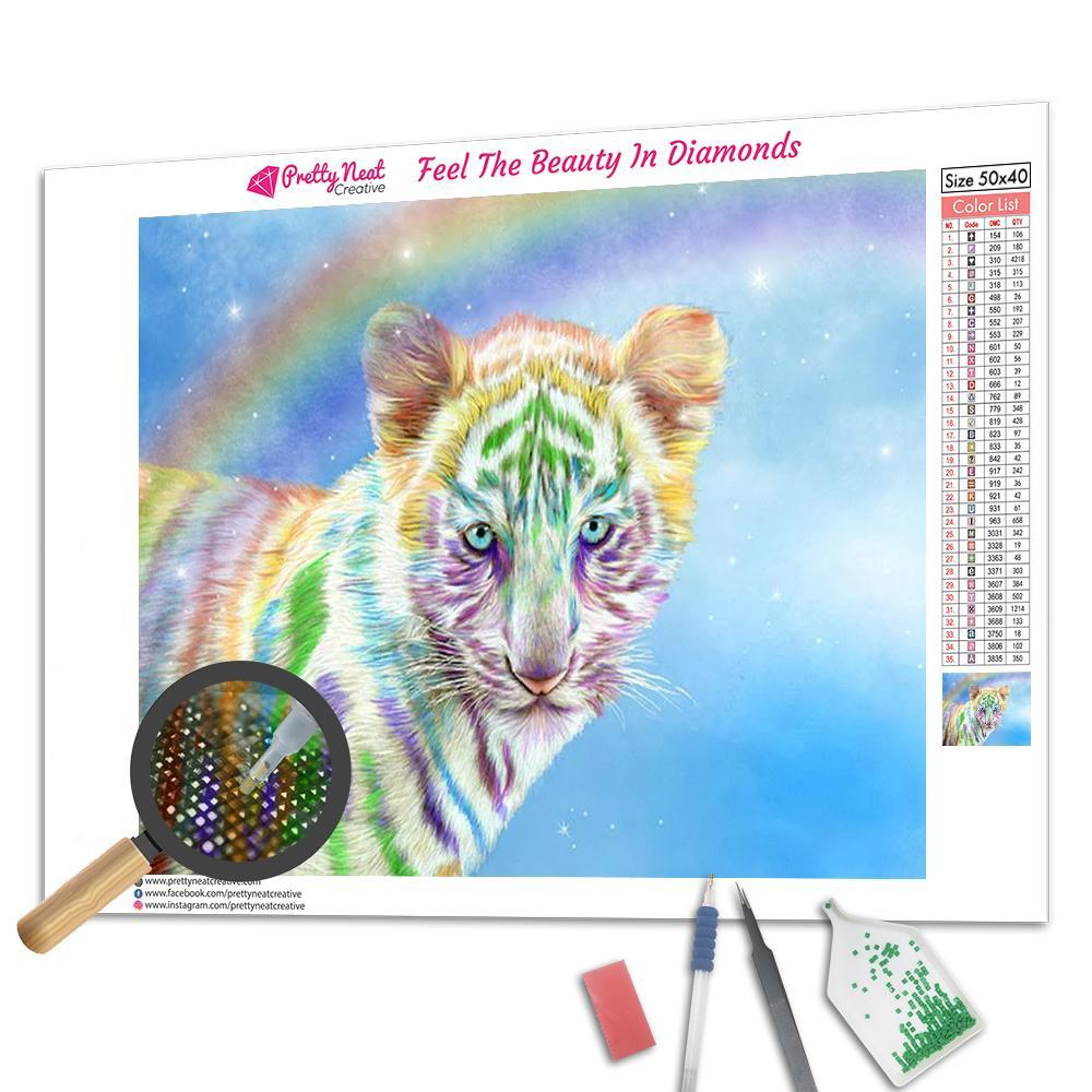 Rainbow Tiger Square Diamond Painting