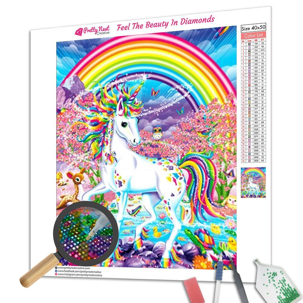 Rainbow Unicorn 5D Square Diamond Painting