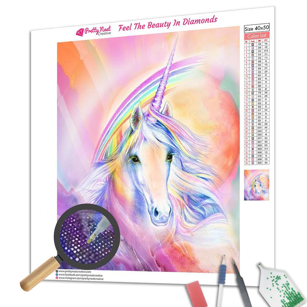 Rainbow Unicorn Square Diamond Painting