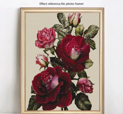 Red Roses Diamond Painting