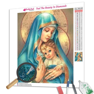 Religious Mother & Child Square Diamond Painting