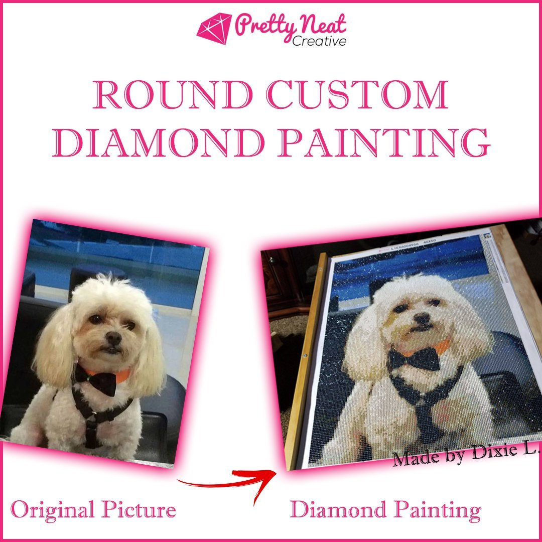Round Custom Diamond Painting Picture