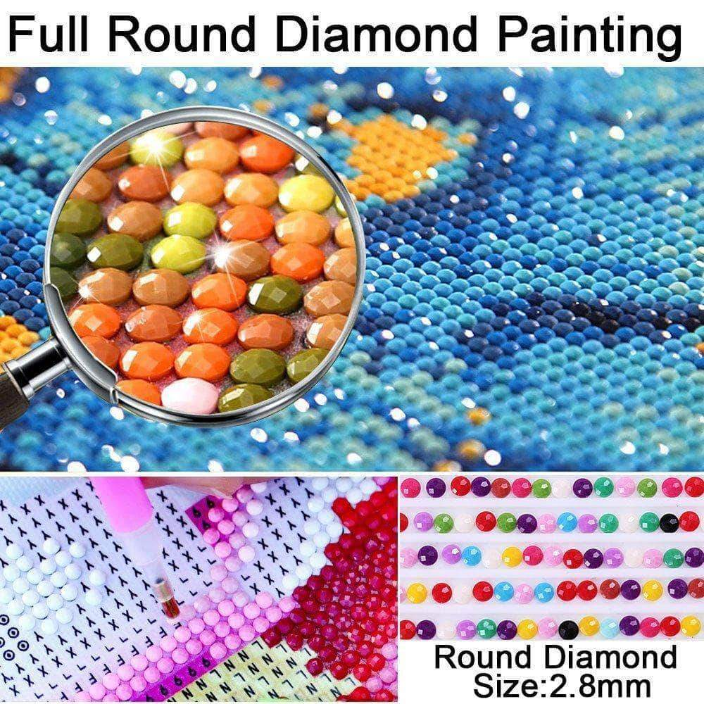 Round Drill / 1 Color Each 10 Bags 447 DMC Color Rhinestone Diamond