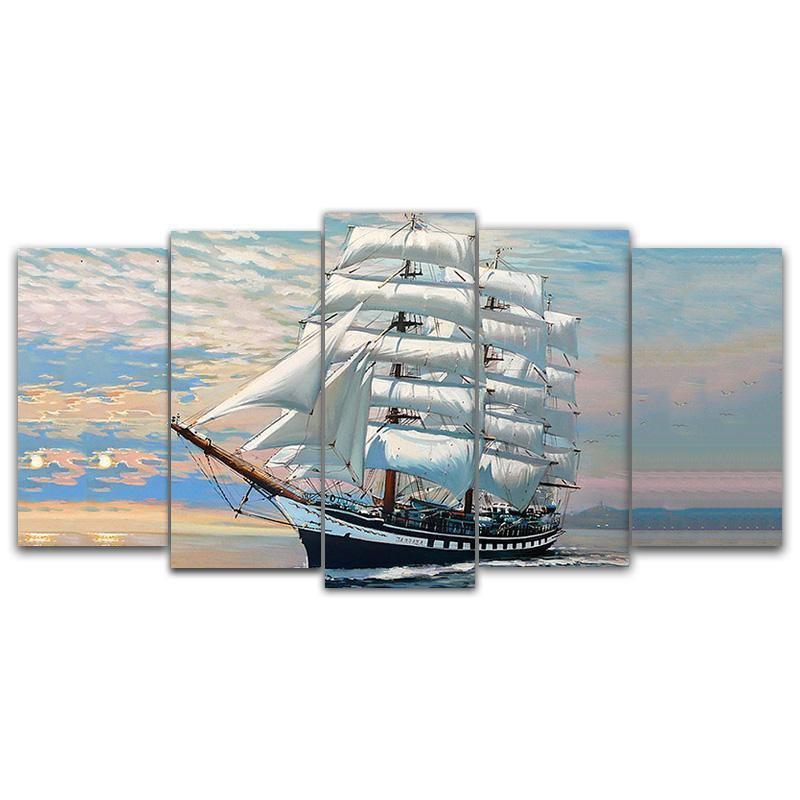 Sailing Boat  Square Diamond Painting