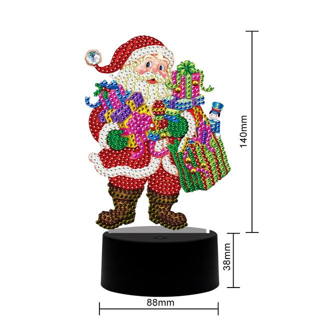 Santa Claus Table Lamp Diamond Painting Light DP  - Pretty Neat Creative