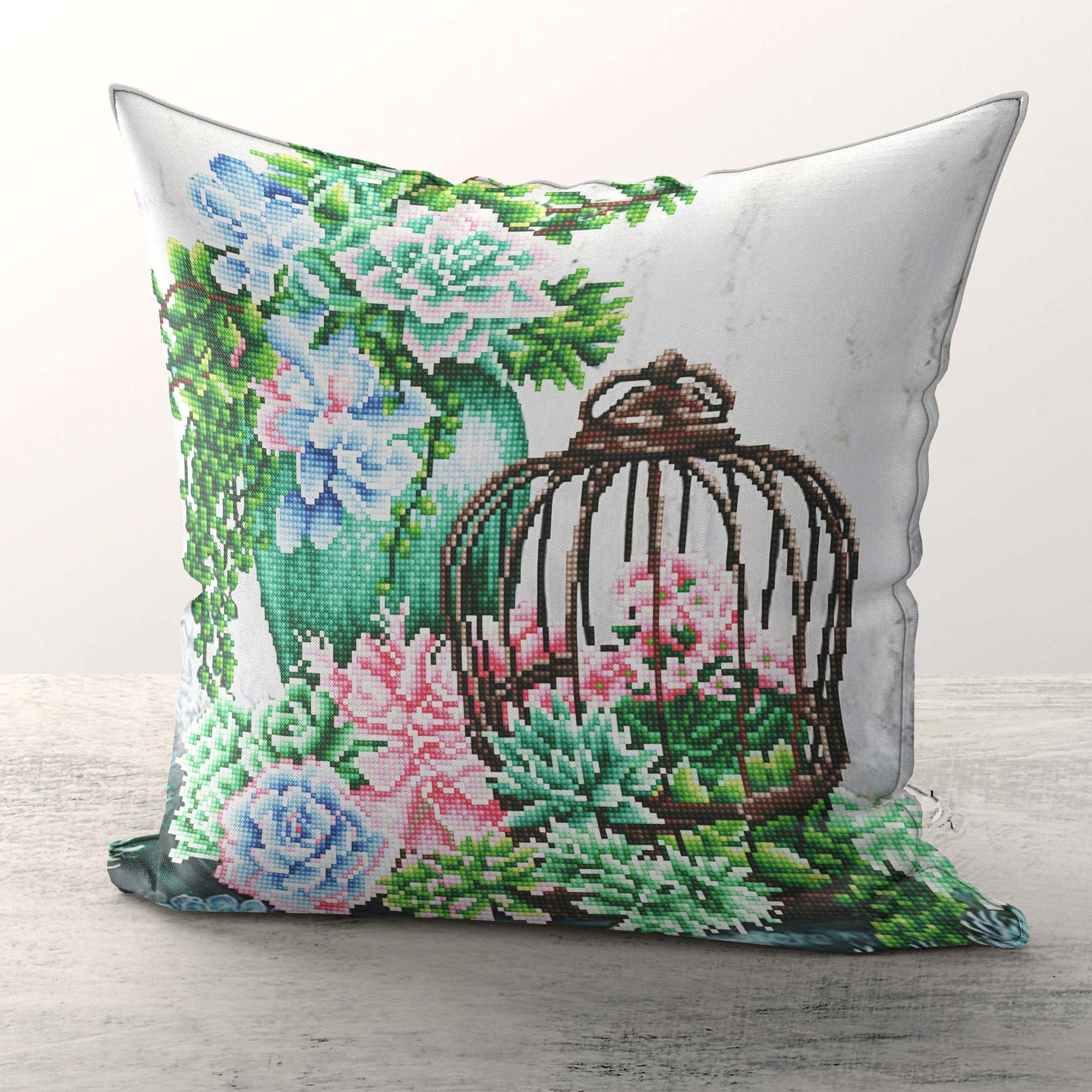 Scculent Garden Cushions Diamond Painting