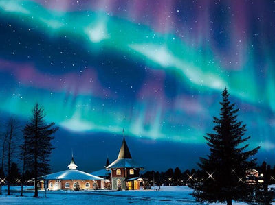 Square Drill 12X16inches Northern Lights Diamond Painting