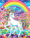 Square Drill 12x16inches Rainbow Unicorn 5D Square  Diamond Painting