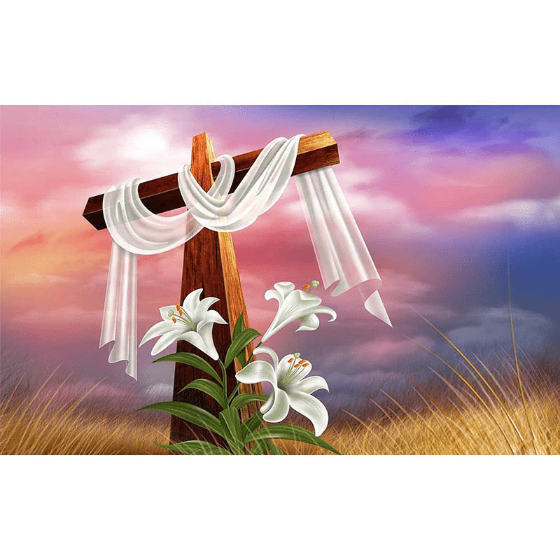 Square Drill 20x30 Cm / 8x12 Inch Easter Cross Diamond Painting