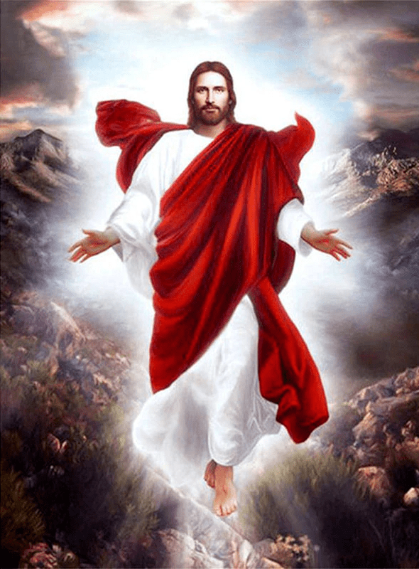 Square Drill 20x30 Cm / 8x12 Inch Jesus Easter Diamond Painting