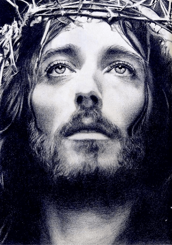 Square Drill 20x30 Cm / 8x12 Inch Jesus Portrait Diamond Painting