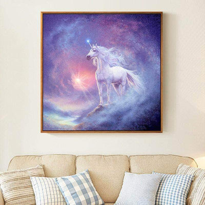 "Square Drill 12"" x 12"" (30cm x 30cm) Astral Unicorn Diamond Painting"
