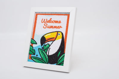"Summer Bird Diamond Painting With Frame 6"" x 8"" (15cm x 20cm) / Special Shaped"