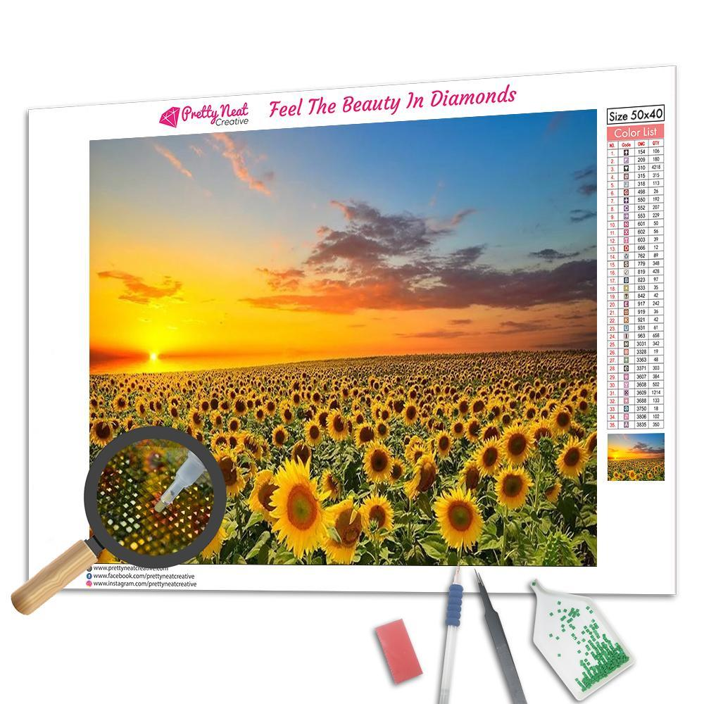 Sunflower Valley Diamond Painting