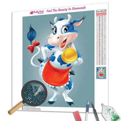 Sunny The Cow Square Diamond Painting