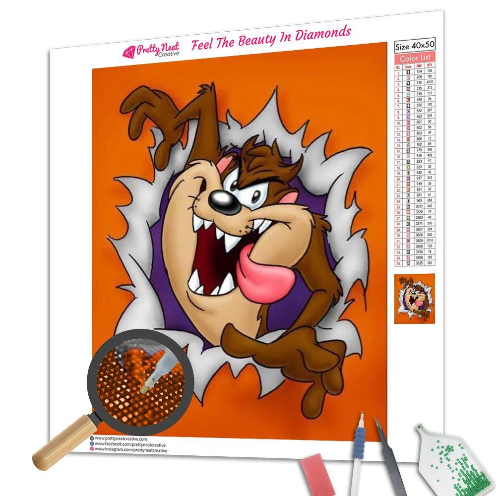 Tasmanian Devil Square Diamond Painting