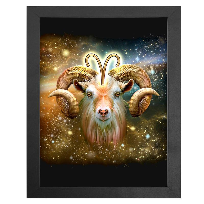 "The Aries Zodiac Sign Diamond Painting With Frame 12"" x 16"" (30cm x 40cm) / Special Shaped"
