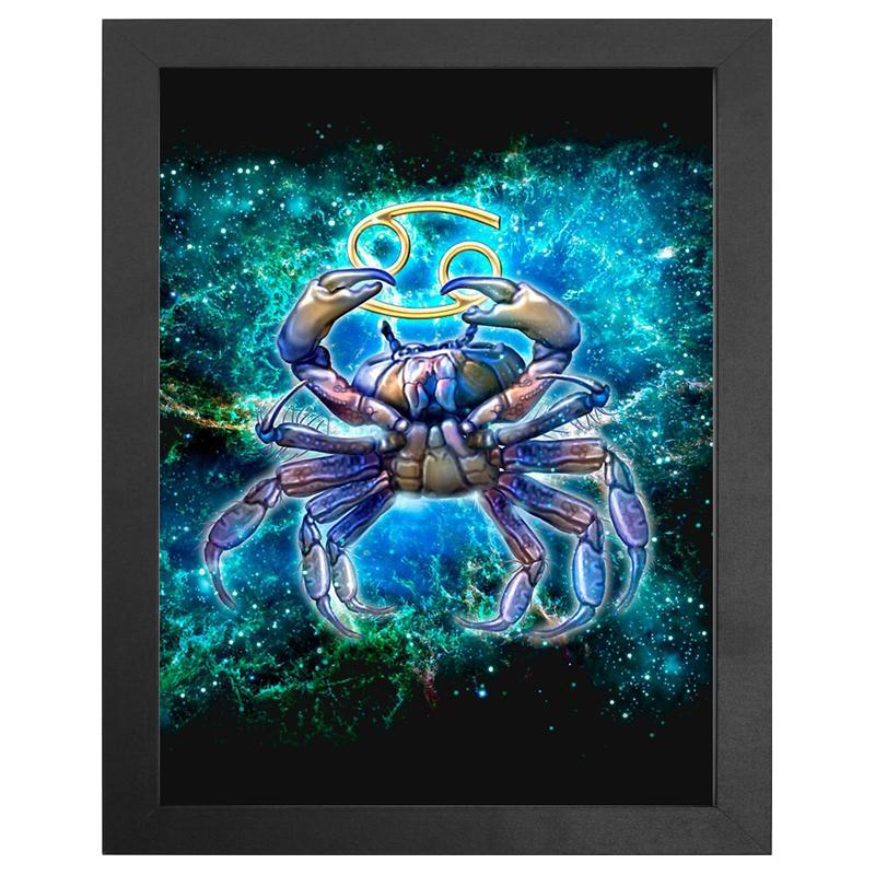 "The Cancer Zodiac Sign Diamond Painting With Frame 12"" x 16"" (30cm x 40cm) / Special Shaped"