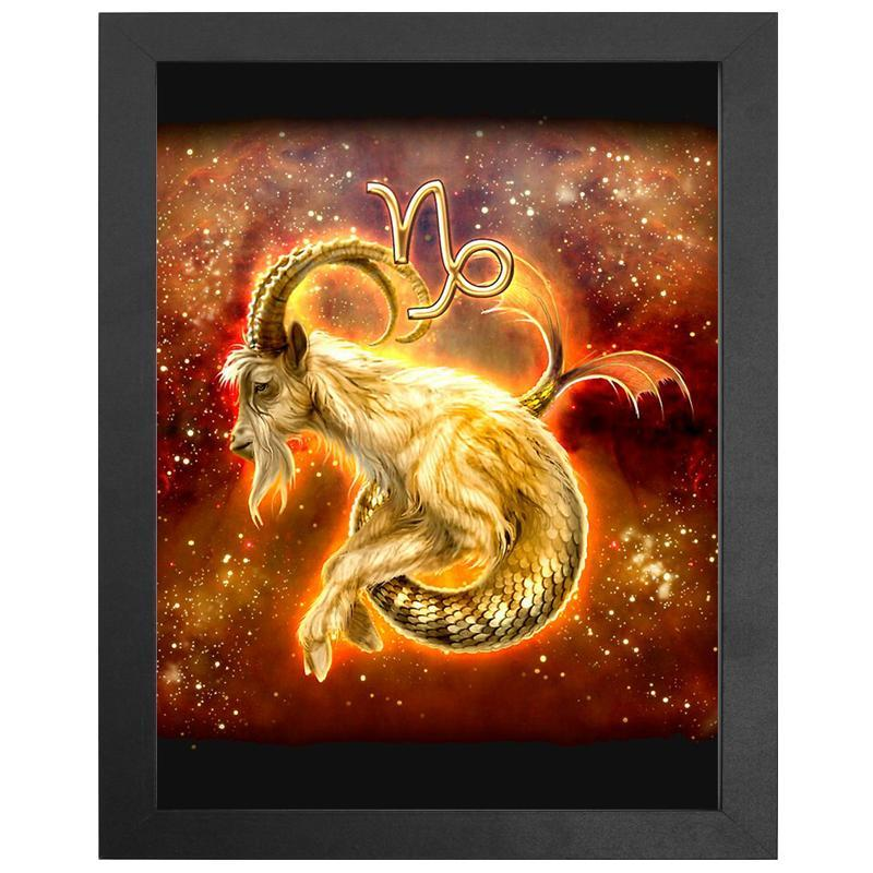 "The Capricorn Zodiac Sign Diamond Painting With Frame 12"" x 16"" (30cm x 40cm) / Special Shaped"
