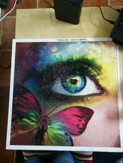 The Eyes Of Butterfly Square 5D Diamond Painting