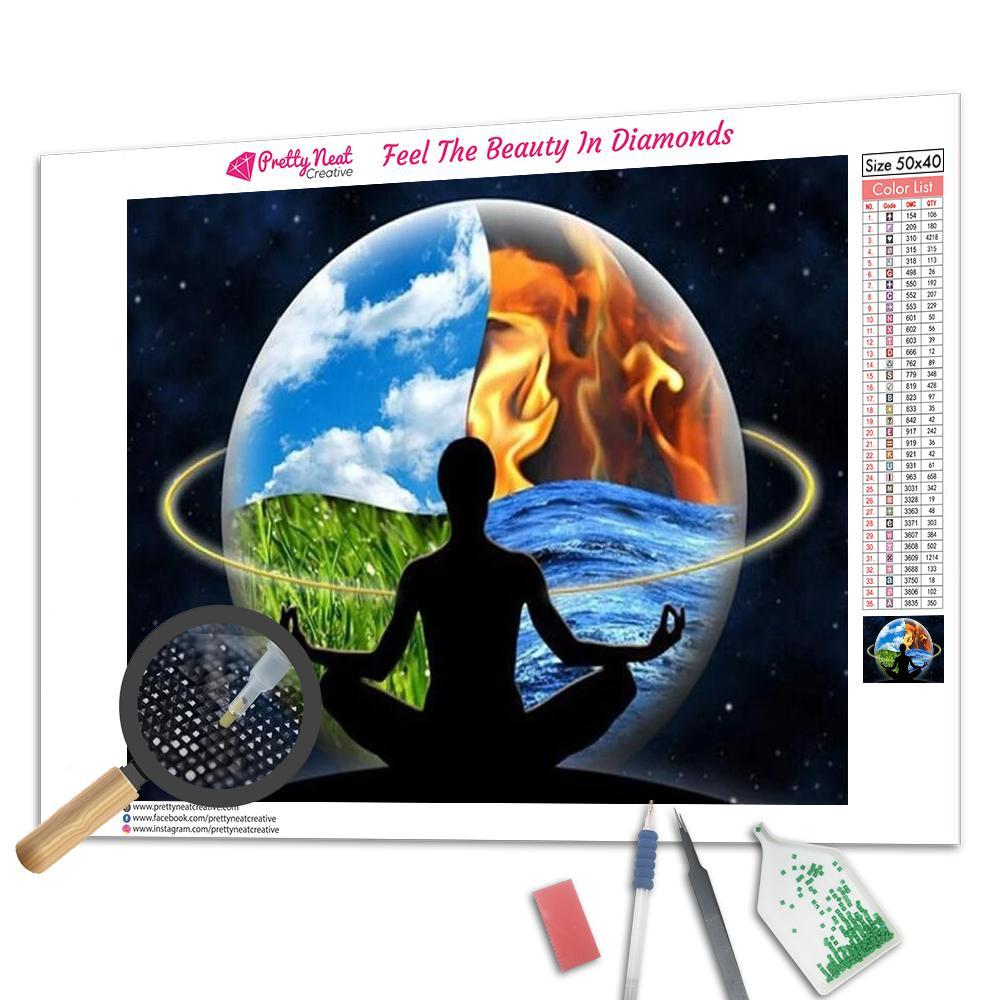 The Five Basic Elements And Energy Square Diamond Painting