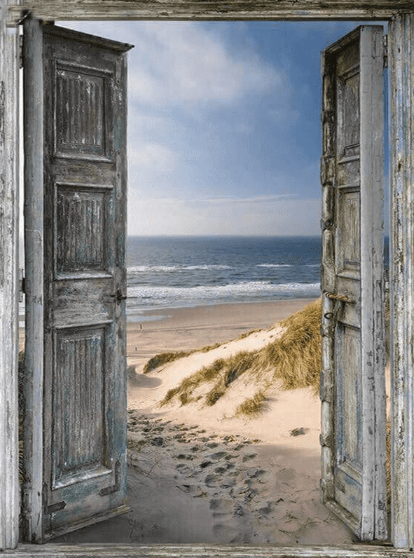 The Magical Door To The Sea Diamond Painting